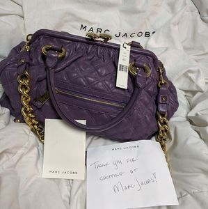 BNWT purple quilted Marc Jacobs bag